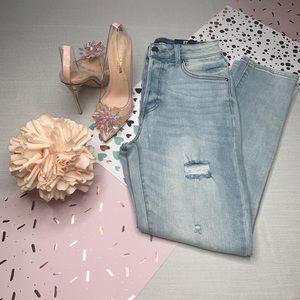 Fashion Nova' So Essential Distressed Mom Jeans